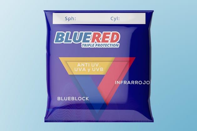 Bluered lente con triple protección