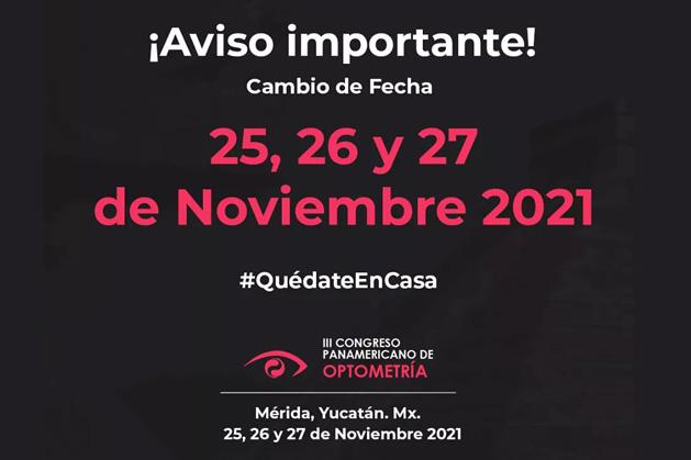 El III Congreso Panamericano de Optometría se realizará en año 2021