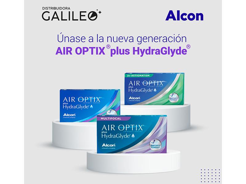 Distribuidora Galileo: Abastezca su óptica con productos de la Familia AIR OPTIX® plus HydraGlyde®